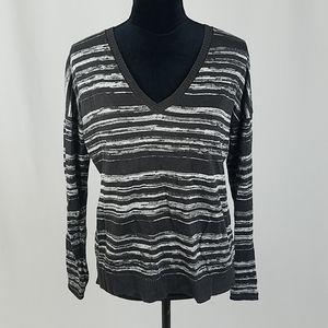 Chaser women M knit sweater lightweight v-neck